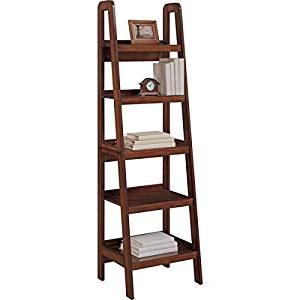 Get Quotations Altra Platform Mahogany Ladder Bookcase Real Wood Veneer Construction