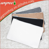 Wholesale Cotton Blank Clutch Bags With Zipper