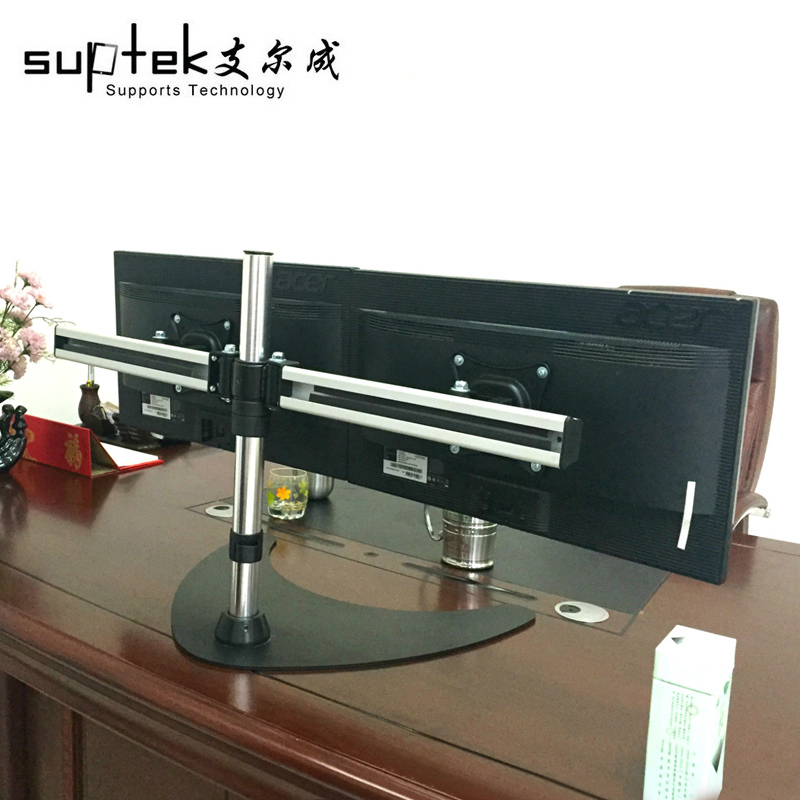 Aluminum Dual Monitor Desk Mounting Bracket Computer Mount For 10 ...