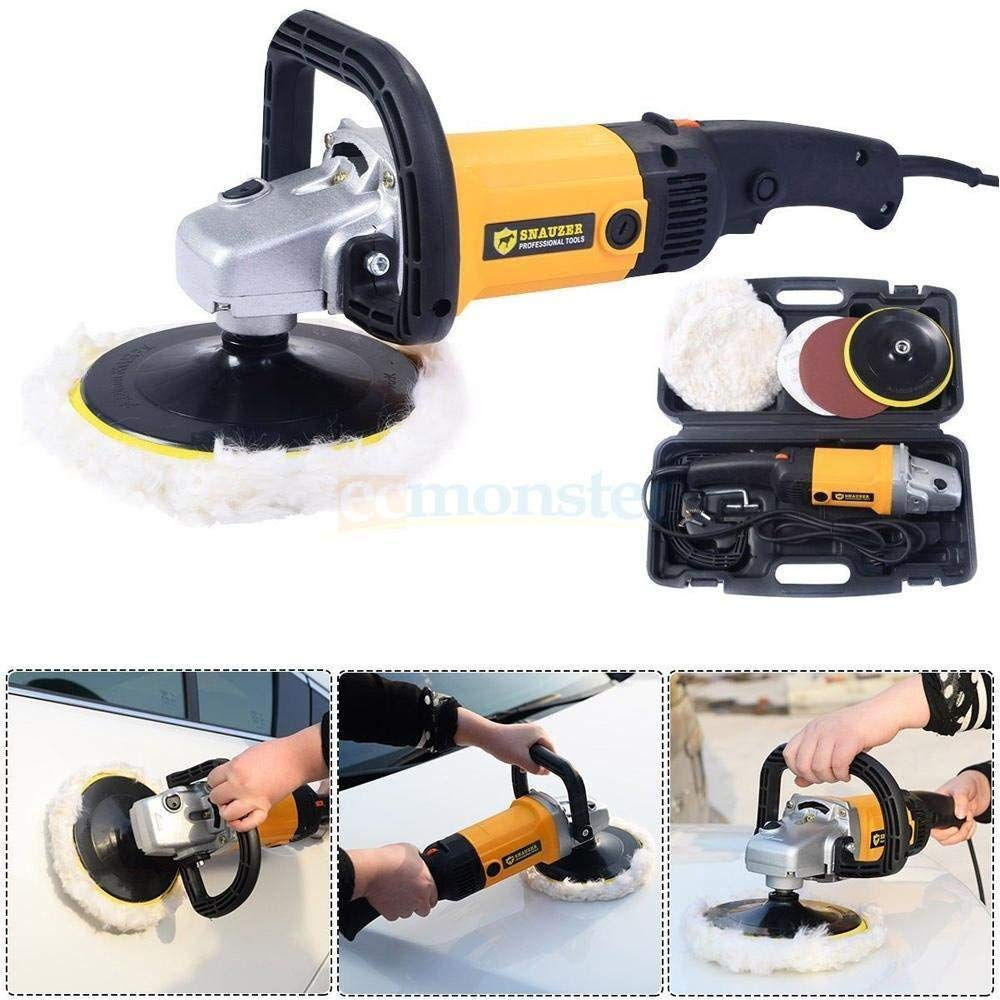 """New 7"""" Electric 6 Variable Speed Car Polisher Buffer Waxer Sander Detail Boat"""