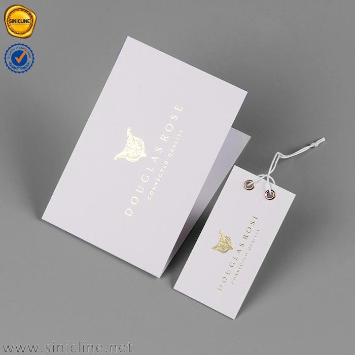 Sinicline design personalizado cartão de papel de toque suave obrigado cartões com logotipo da folha de ouro
