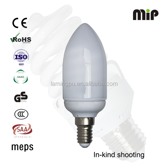 candle bulb 11W 6500K E14 energy saving lamp manufacturer