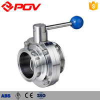 Hygienic Quick install Manual Pharmacy Sanitary butterfly valve