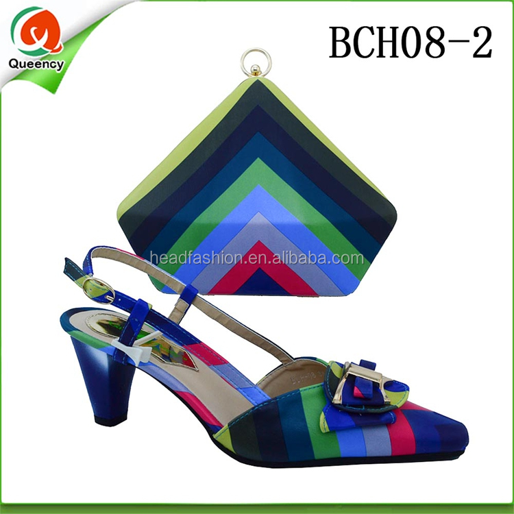 Fashion High Women Italian Queency Ladies BCH08 and Wedding Wholesale Bag Bridal for Shoes Heel African Wholesale qFACxUEw