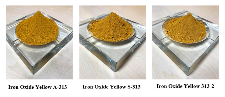 Inorganic Pigment Iron Oxide Fe2O3 Yellow for Concrete Paint