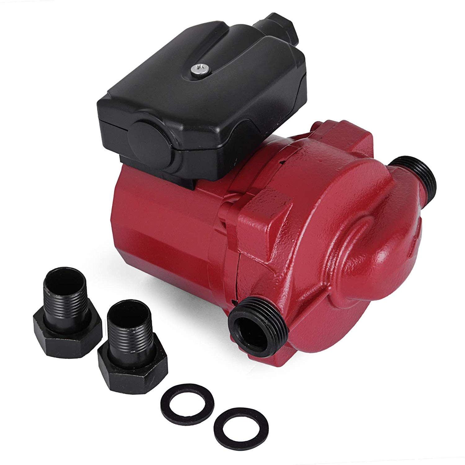Happybuy 3/4 inch Hot Water Circulation Pump RS15-6 Hot Water Circulating Pump Red Three Speed Water Circulation Pump for Solar Heater Systems