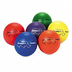 Champion Sports : Dodge Ball Set, Rhino Skin, Assorted Colors, Six Balls per Set -:- Sold as 2 Packs of - 6 - / - Total of 12 Each