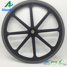 24 Inch Heavy Duty Manual Wheelchair Wheels Flat Free Tires Wheelchair Replacement Parts