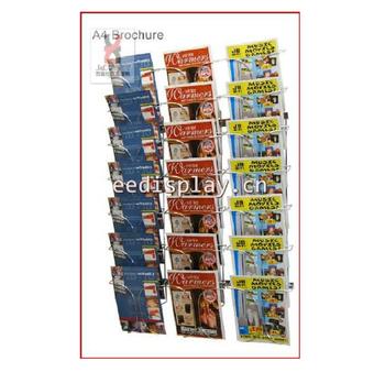 Zeitschriftenständer chrom a4 broschüre oder zeitschriftenständer 3 reihen tier zeitung