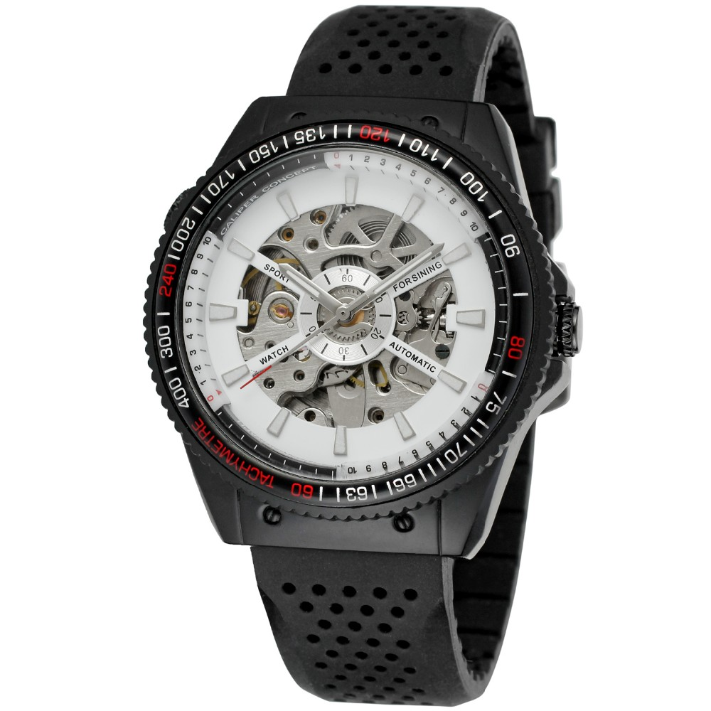 Forsining Fashion 2019 Type Uitstekende kwaliteit hotsell automatische horloges china relojes de silicona para hombre Horloge Skelet