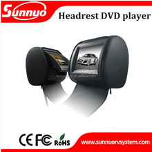 7inch/9inch Car headrest monitor with zipper, USB/SD Card and IR Transmitter Function