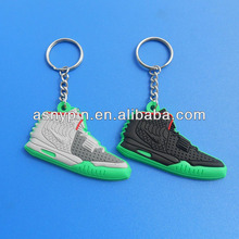 Air Jeezy brand sneaker keyring, mini sports shoe keychain key holder for club gifts