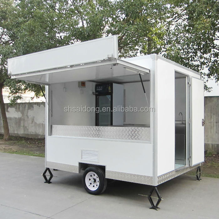 Mobile Kitchen Truck Trailermobile Food Househot Dog Trailers