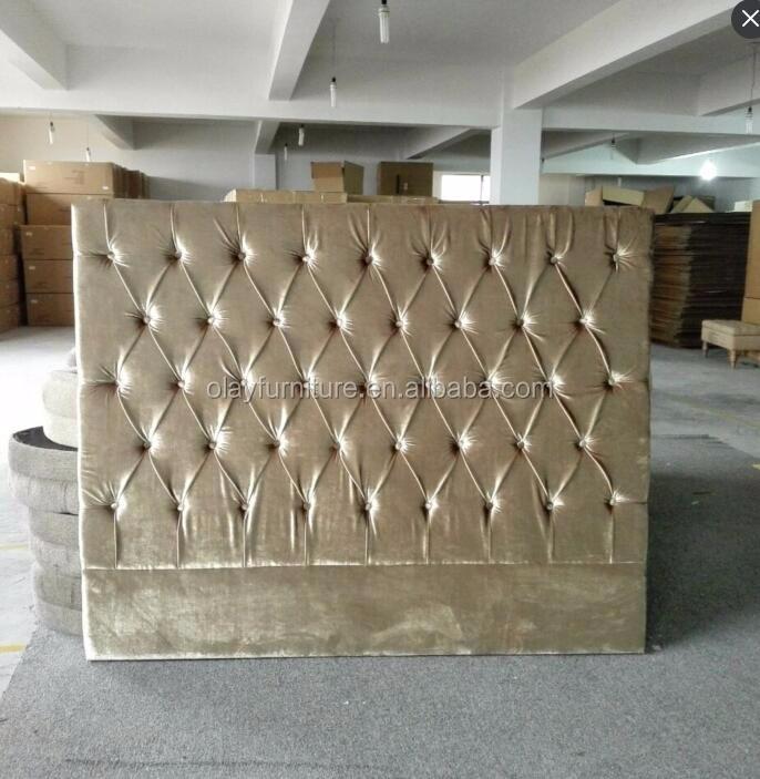 tejido de terciopelo de oro de estilo francs cama cabecero tapizado