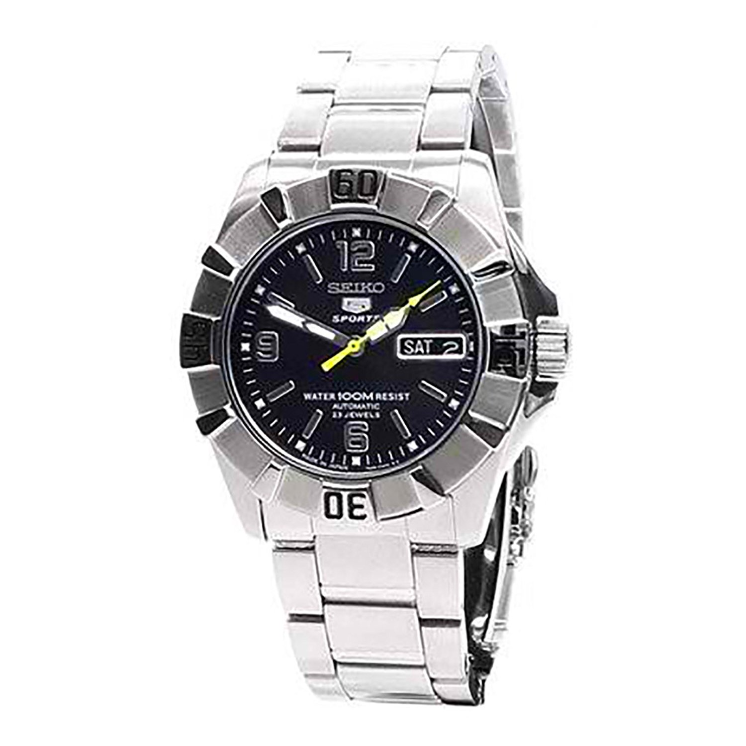 Seiko Mens 5 SPORTS Analog Sport Automatic JAPAN Watch (Imported) SNZF67J1