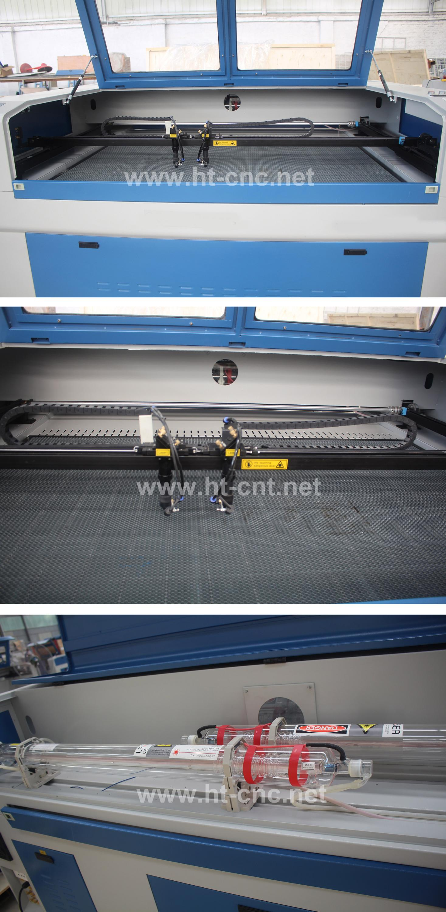 Good sale double heads laser cutting machine 1610(standard)