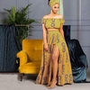 2019 african women dresses summer casual dresses african wax prints fabric