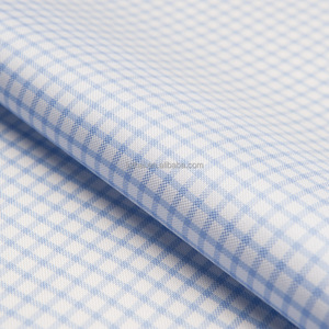 Luthai Textile NOS 100% cotton material yarn dyed non iron gingham check pattern woven men shirt fabric