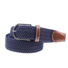 Hot selling wholesale high quality braided mens elastic belts custom woven elastic belt