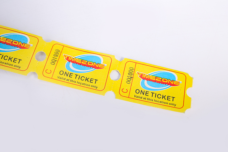 High Quality Cheap Custom Printed Redemption Tickets