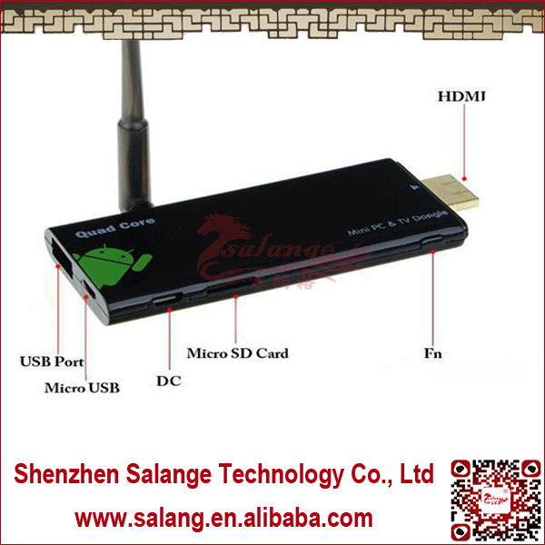 Android4.2.2 RK3188 Quad Core Bluetooth4.0 External Antenna HDMI <strong>TV</strong> Donlge Android4.2.2 By Salange