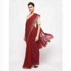 Custom quality Indian women's party saree with blouse