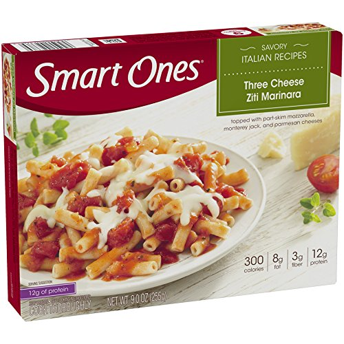 Smart Ones, Ziti Three Cheese, 97% Fat free, 9 oz (Frozen)