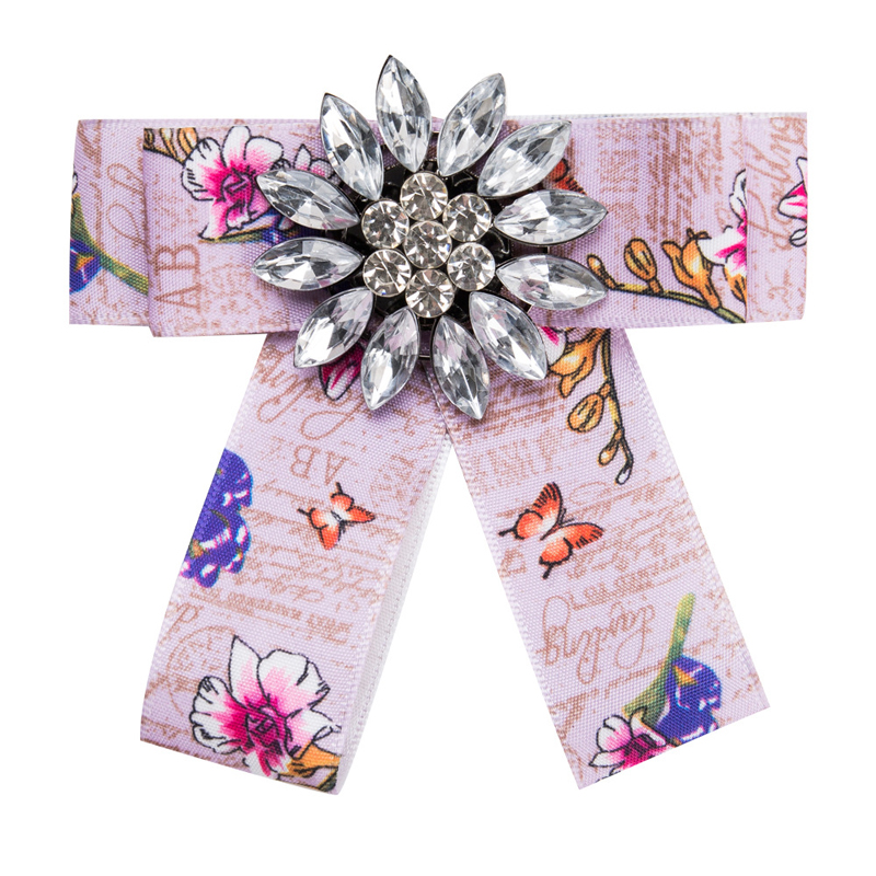 YWMT 2019 New Come Hot Sell Beautiful Fine Faille <strong>Flower</strong> Crystal Handmade <strong>Ties</strong> For Women