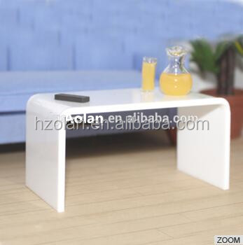 white acrylic sofa side table/high quality acrylic display stand