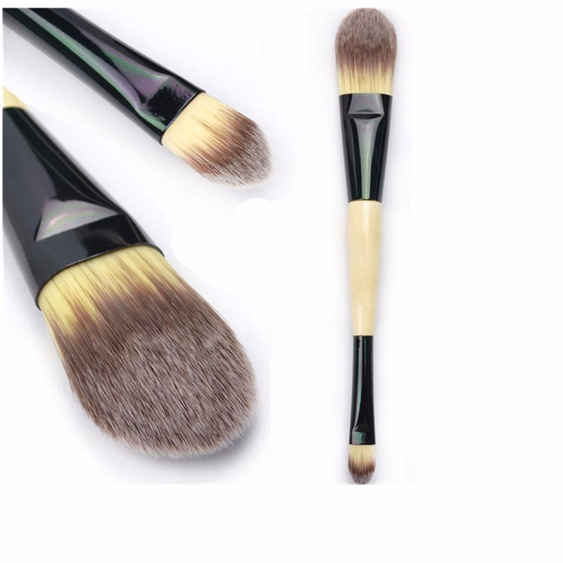 1Pcs Professional Tapered Soft Dual Ended Contour Powder Foundation Makeup Cosmetic Lip Brush