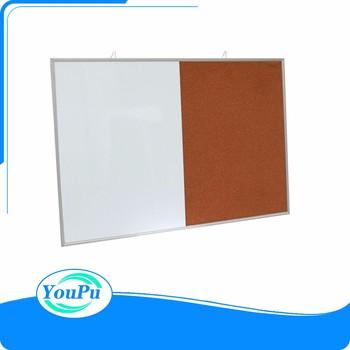 Modern Combination Combo White Board & Cork Board Aluminum Frame ...