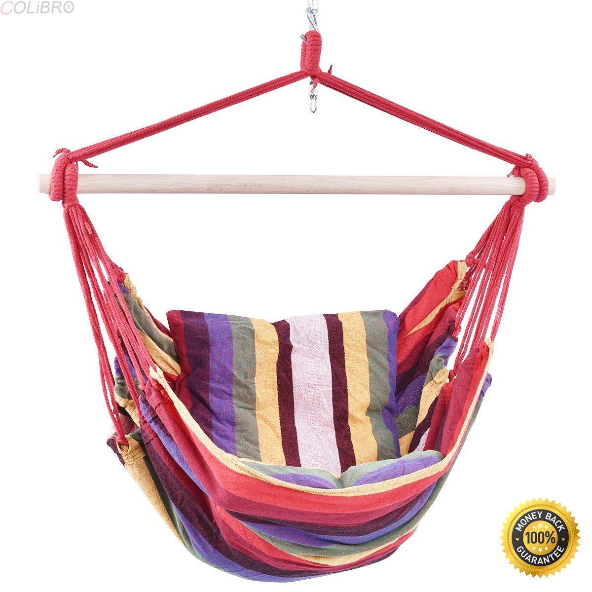COLIBROX--2PCS Red Deluxe Hammock Rope Chair Patio Porch Yard Tree Hanging Air Swing patio,Swing Loveseat Hammock,swing chair outdoor,hammock swing chair,lowes porch swing,portable folding hammock