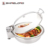 C058 Cheap Visible Round Induction Stainless Steel Buffet Roll Top Electric Chafer Dish