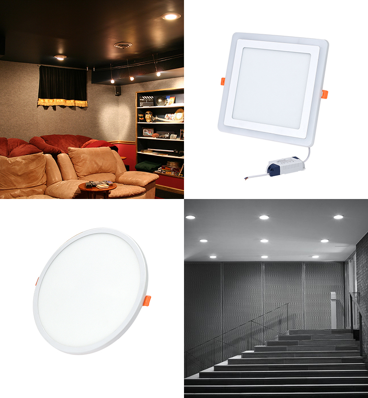 3w 6w 9w 12w 15w 18w 24w led panel light surface mounted downlight