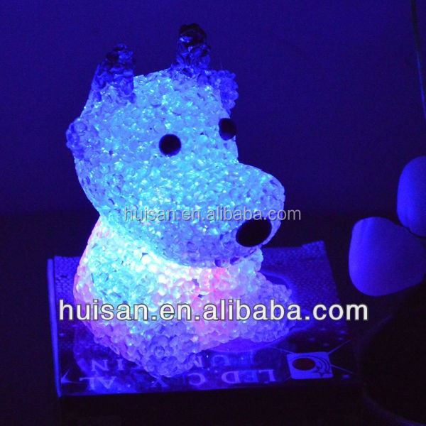Color Chaning Cow Lamp/led eva cow