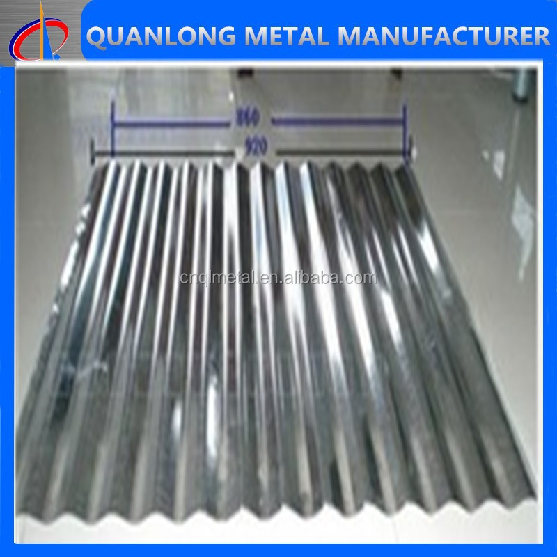 high zinc coated corrugated steel roofing sheet with wave height