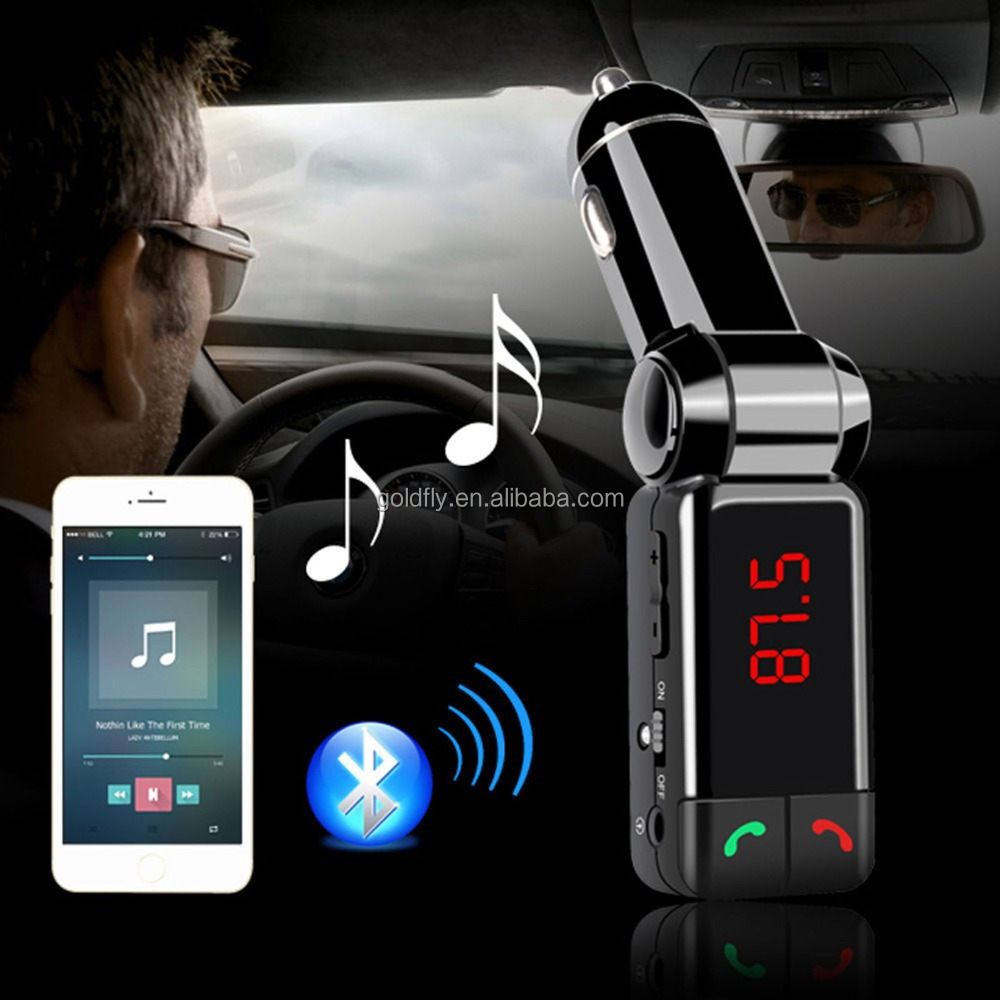 Audio mobil mp3 player bluetooth fm transmitter fm modulator nirkabel handsfree car kit lcd display usb charger untuk iphone samsung