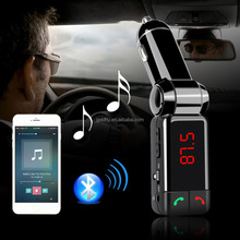 Car Audio <span class=keywords><strong>MP3</strong></span> Player Bluetooth Trasmettitore FM Modulatore FM Wireless Car Kit Vivavoce Display LCD Usb per il iphone Samsung