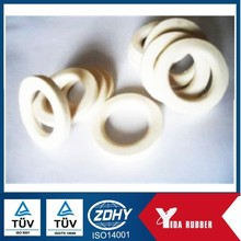 Custom molded white rubber gasket/ silicone FKM flat rubber grommet/rubber gasket seal
