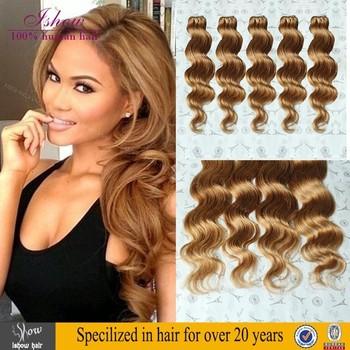 Good Quality Human Hair Extension On Honey Blonde Brazilian Weave