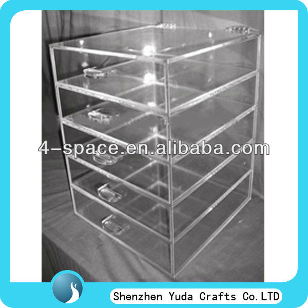 acrylic case 5 drawers,wholesale acrylic makeup organizer with drawers