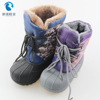 2019 navyshoes children snow boots for kids,fashion fur child winter hiking ankle boots kids leather winter boots