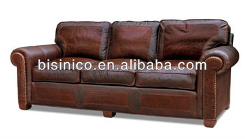 Superieur New Classical Solid Wooden Luxury Genuine Leather Sofa,living Room  Furniture,thick Leather Sofa