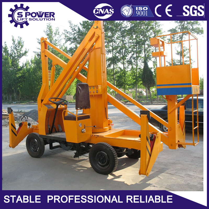18m 200kg easy operate mobile street light hydraulic boom lift for repairing work