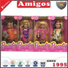 sell 5 inch solid orange/pink 4 styles mixed baby doll for child