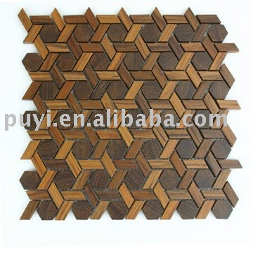 wall decoration Teak Cane wood mosaic