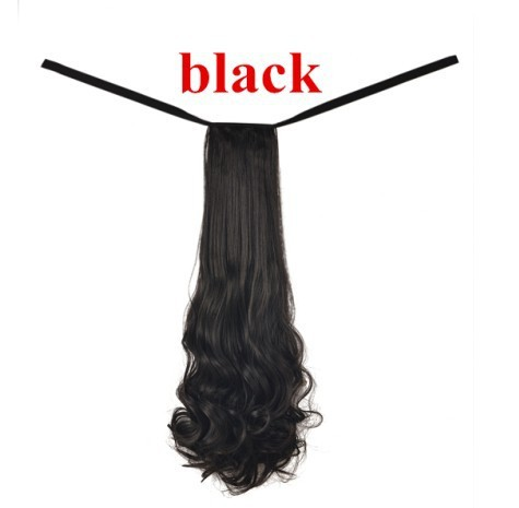 black hair drawstring ponytail synthetic ponytail hairpieces hair accessories ponytail hair