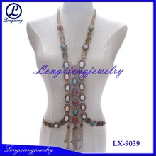 Fashion Classical Jewelry Body Chain With Multi Color