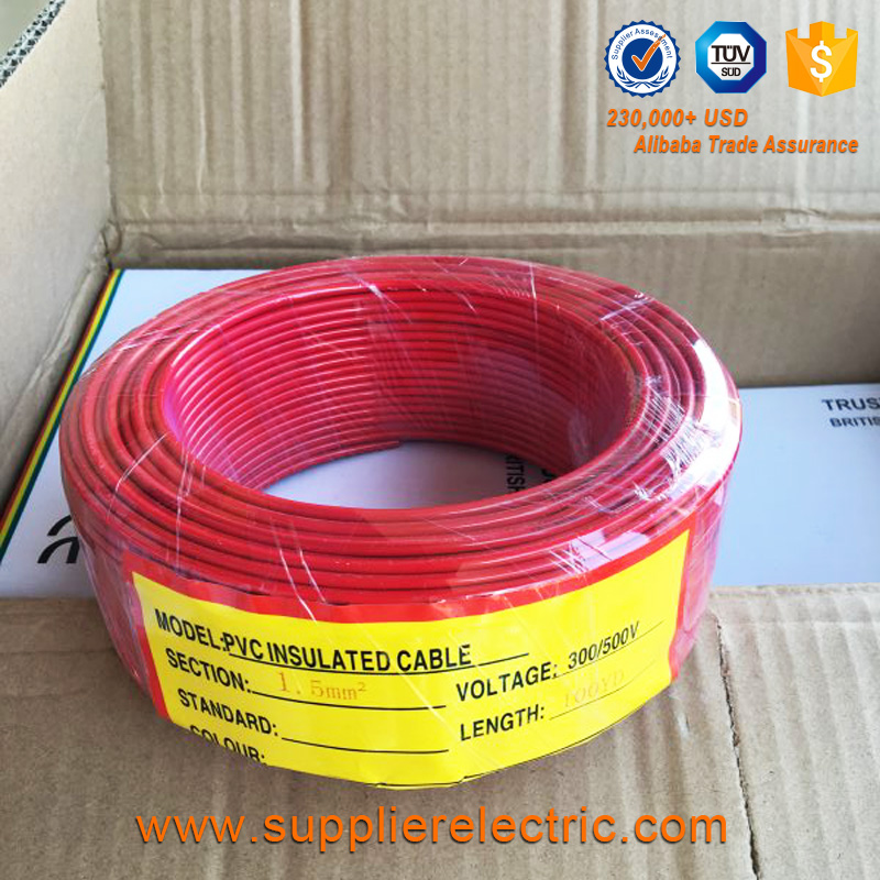 Wholesale Copper Material PVC Insulated BV Power Cable Solid Single Core Electrical Wire 4 MM