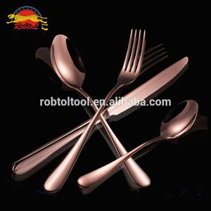 4 Piece Rose gold Stainless Steel Flatware ,Spoon Fork Knife advanced Cutlery Set Dining Dinnerware Tableware